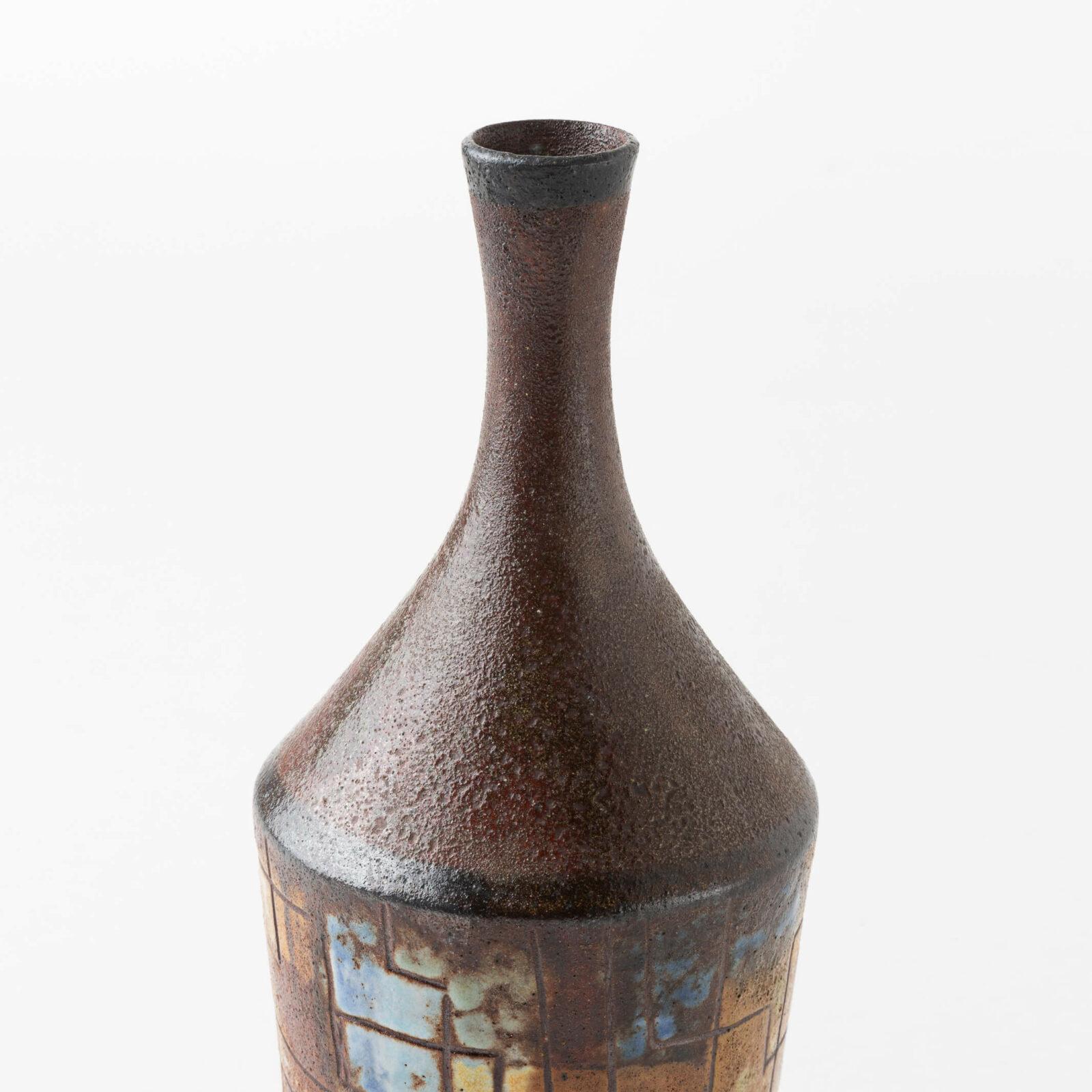 Pair of Bottle-shaped Vases